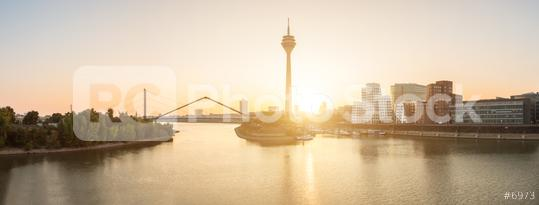 Sunset at dusseldorf panorama  : Stock Photo or Stock Video Download rcfotostock photos, images and assets rcfotostock   RC-Photo-Stock.: