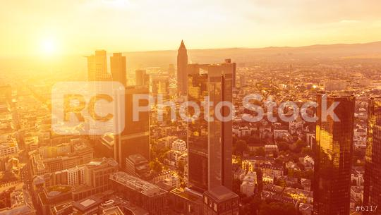 Sunset at Frankfurt City (Mainhattan), germany  : Stock Photo or Stock Video Download rcfotostock photos, images and assets rcfotostock | RC-Photo-Stock.: