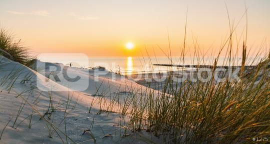 Sunset at the Baltic Sea Beach  : Stock Photo or Stock Video Download rcfotostock photos, images and assets rcfotostock | RC-Photo-Stock.: