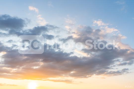 sunset clouds with sun setting down  : Stock Photo or Stock Video Download rcfotostock photos, images and assets rcfotostock   RC-Photo-Stock.: