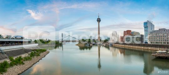 Sunset in Dusseldorf panorama  : Stock Photo or Stock Video Download rcfotostock photos, images and assets rcfotostock | RC-Photo-Stock.: