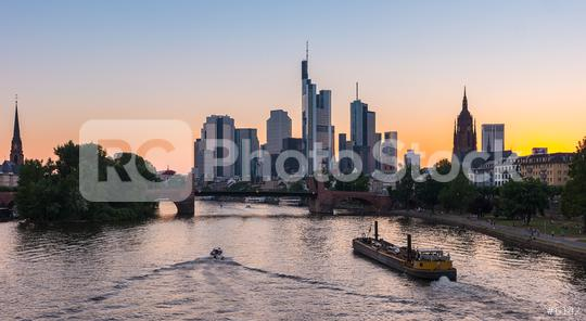 Sunset silhouette of Frankfurt am Main, germany  : Stock Photo or Stock Video Download rcfotostock photos, images and assets rcfotostock | RC-Photo-Stock.: