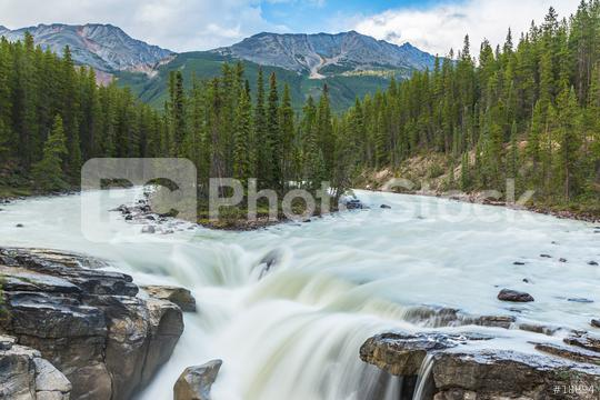 Sunwapta falls in the national park Canada   : Stock Photo or Stock Video Download rcfotostock photos, images and assets rcfotostock | RC-Photo-Stock.:
