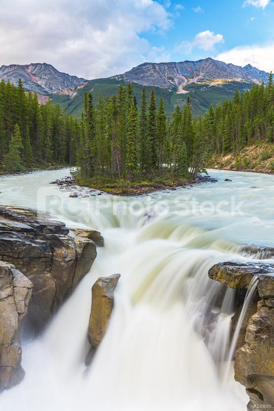 Sunwapta waterfalls in the Jasper national park canada  : Stock Photo or Stock Video Download rcfotostock photos, images and assets rcfotostock   RC-Photo-Stock.: