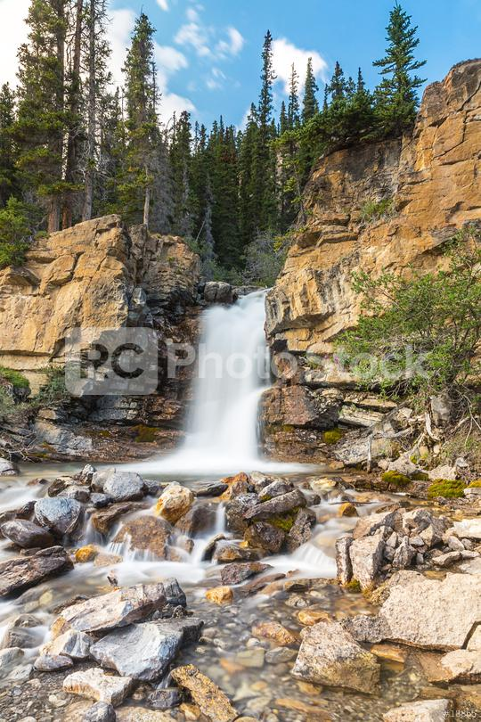 Tangle Creek Waterfall at jasper national park Canada   : Stock Photo or Stock Video Download rcfotostock photos, images and assets rcfotostock | RC-Photo-Stock.: