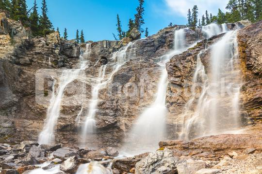Tangle Creek waterfalls in the rocky mountains canada  : Stock Photo or Stock Video Download rcfotostock photos, images and assets rcfotostock | RC-Photo-Stock.: