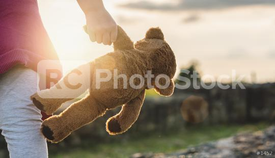 Teddy bear is a best friend for all little cute girl. Child autism can be more happy and fun when they
