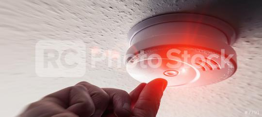 Testing Domestic Home Smoke Alarm detector  : Stock Photo or Stock Video Download rcfotostock photos, images and assets rcfotostock   RC-Photo-Stock.: