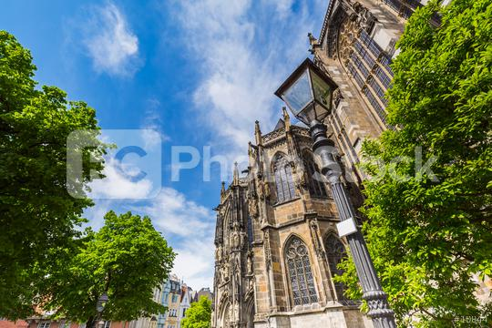 the Cathedral of Aachen at summer in germany  : Stock Photo or Stock Video Download rcfotostock photos, images and assets rcfotostock | RC-Photo-Stock.: