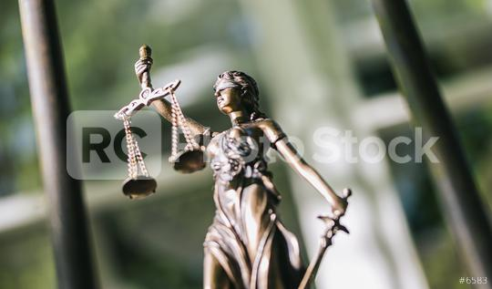 The Statue of Justice - lady justice or Iustitia / Justitia the Roman goddess of Justice against a prison grid, legal law concept image  : Stock Photo or Stock Video Download rcfotostock photos, images and assets rcfotostock | RC-Photo-Stock.:
