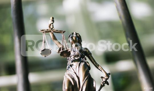 The Statue of Justice symbol against a prison grid, legal law concept image  : Stock Photo or Stock Video Download rcfotostock photos, images and assets rcfotostock | RC-Photo-Stock.: