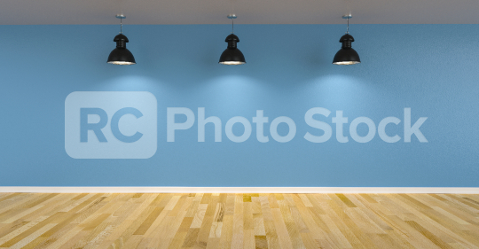 Three ceiling lamps in front of blue wall as canvas mock up design, copyspace for your individual text.  : Stock Photo or Stock Video Download rcfotostock photos, images and assets rcfotostock | RC-Photo-Stock.:
