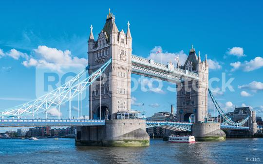 Tower Bridge at summer with blue sky in London, UK  : Stock Photo or Stock Video Download rcfotostock photos, images and assets rcfotostock | RC-Photo-Stock.: