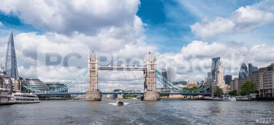Tower Bridge with Business district and cityhall panoramic view in London, UK  : Stock Photo or Stock Video Download rcfotostock photos, images and assets rcfotostock | RC-Photo-Stock.:
