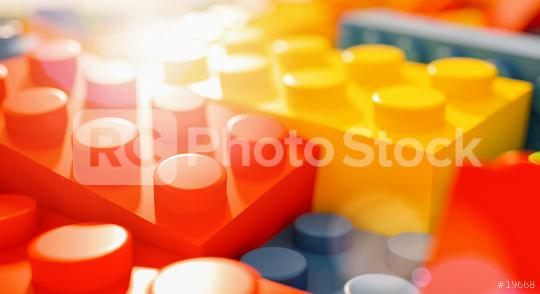 toy bricks against sunlight - concept image - 3D Rendering  : Stock Photo or Stock Video Download rcfotostock photos, images and assets rcfotostock   RC-Photo-Stock.: