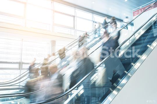 trade fair staircase with blurred people  : Stock Photo or Stock Video Download rcfotostock photos, images and assets rcfotostock   RC-Photo-Stock.: