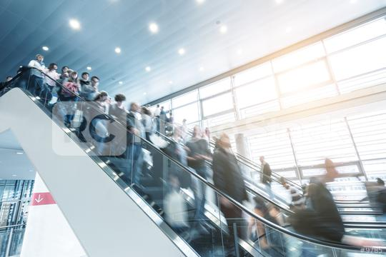 trade fair staircase with blurred people  : Stock Photo or Stock Video Download rcfotostock photos, images and assets rcfotostock | RC-Photo-Stock.: