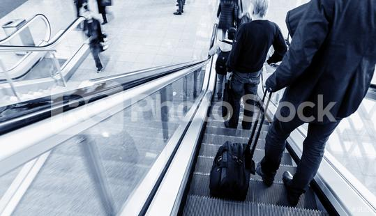 trade show staircase with blurred people  : Stock Photo or Stock Video Download rcfotostock photos, images and assets rcfotostock | RC-Photo-Stock.:
