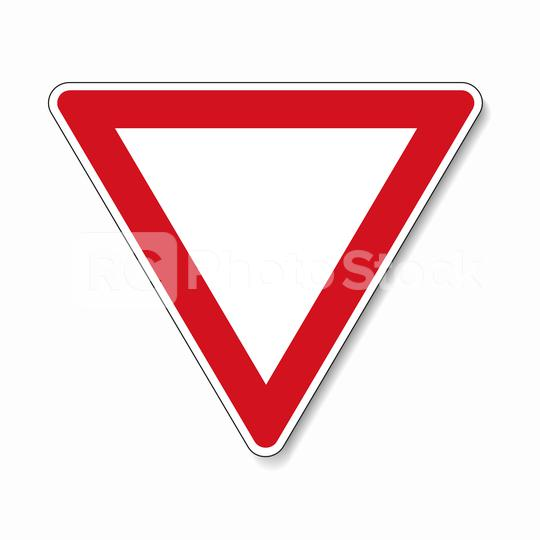 traffic sign right of way. German traffic sign: Give way! on white background. Vector illustration. Eps 10 vector file.  : Stock Photo or Stock Video Download rcfotostock photos, images and assets rcfotostock   RC-Photo-Stock.: