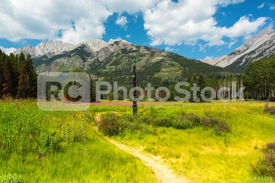 Trekking trail in to the rocky mountains at banff canada  : Stock Photo or Stock Video Download rcfotostock photos, images and assets rcfotostock | RC-Photo-Stock.: