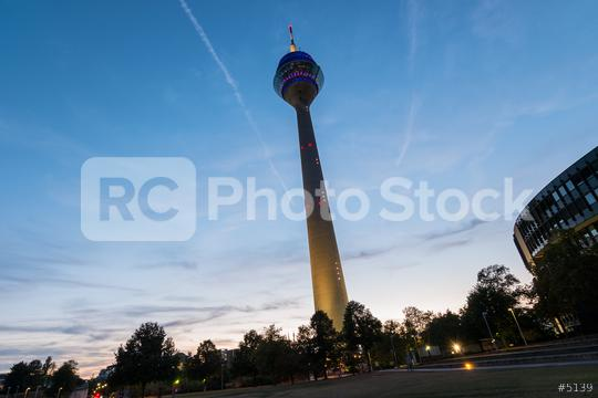 Tv Tower Dusseldorf old town at susnet  : Stock Photo or Stock Video Download rcfotostock photos, images and assets rcfotostock | RC-Photo-Stock.: