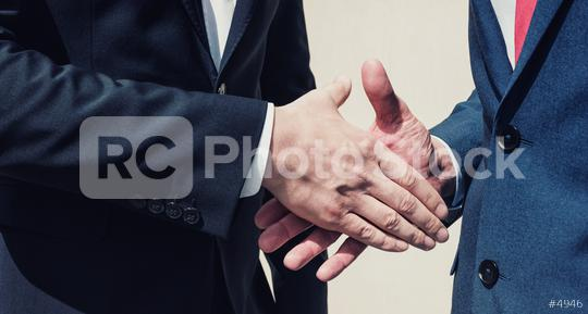 two businessman handshaking process  : Stock Photo or Stock Video Download rcfotostock photos, images and assets rcfotostock | RC-Photo-Stock.: