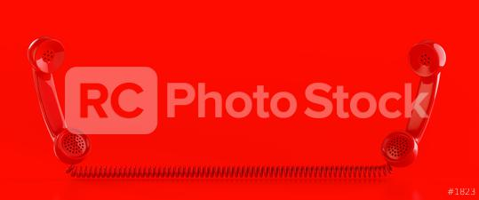 Two red vintage phones with copy space  : Stock Photo or Stock Video Download rcfotostock photos, images and assets rcfotostock | RC-Photo-Stock.: