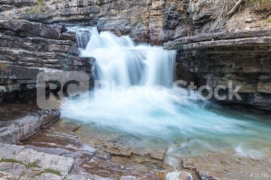 Upper Waterfall at the Johnston Canyon in banff Canada   : Stock Photo or Stock Video Download rcfotostock photos, images and assets rcfotostock | RC-Photo-Stock.: