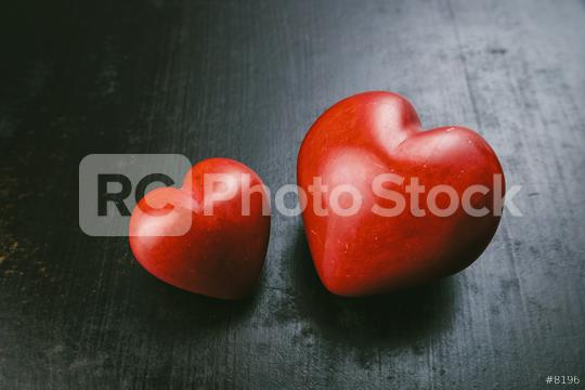Valentines day greeting card. Red heart on the black grunge background  : Stock Photo or Stock Video Download rcfotostock photos, images and assets rcfotostock | RC-Photo-Stock.:
