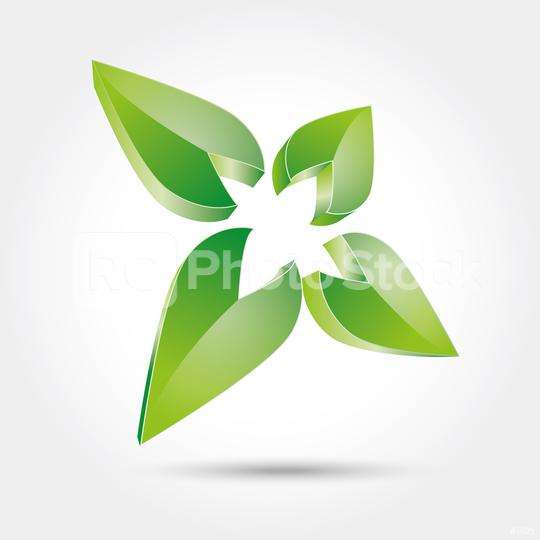 vector abstract nature leaf formation in green glossy colors 3d icon, logo design. Vector illustration. Eps 10 vector file.  : Stock Photo or Stock Video Download rcfotostock photos, images and assets rcfotostock | RC-Photo-Stock.: