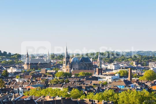 view of aachen city with town hall and cathedral  : Stock Photo or Stock Video Download rcfotostock photos, images and assets rcfotostock | RC-Photo-Stock.: