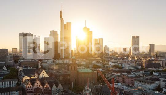 View of Frankfurt am Main at summer sunset  : Stock Photo or Stock Video Download rcfotostock photos, images and assets rcfotostock | RC-Photo-Stock.: