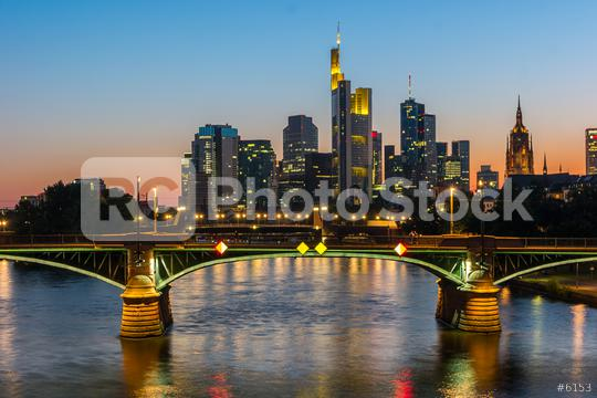 View of Frankfurt am Main skyline at Sunset Germany  : Stock Photo or Stock Video Download rcfotostock photos, images and assets rcfotostock   RC-Photo-Stock.:
