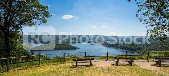 view of the Rursee lake at the Eifel in germany  : Stock Photo or Stock Video Download rcfotostock photos, images and assets rcfotostock | RC-Photo-Stock.: