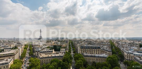 View on Eiffel Tower and skyline panorama, Paris, France  : Stock Photo or Stock Video Download rcfotostock photos, images and assets rcfotostock | RC-Photo-Stock.: