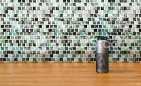 voice controlled smart speaker in the kitchen with copy space for individual text  : Stock Photo or Stock Video Download rcfotostock photos, images and assets rcfotostock | RC-Photo-Stock.:
