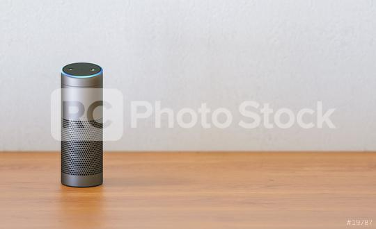 voice controlled smart speaker on a table with copy space for individual text  : Stock Photo or Stock Video Download rcfotostock photos, images and assets rcfotostock | RC-Photo-Stock.: