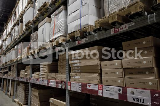 Warehouse shelves loaded up with boxes  : Stock Photo or Stock Video Download rcfotostock photos, images and assets rcfotostock | RC-Photo-Stock.:
