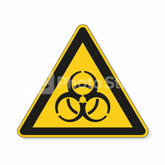 Warning sign of virus. Safety signs, warning Sign or Danger symbol BGV hazard pictogram, Biohazard biological threat alert icon on white background. Vector illustration. Eps 10.  : Stock Photo or Stock Video Download rcfotostock photos, images and assets rcfotostock | RC-Photo-Stock.: