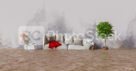 Wasserschaden im Haus nach Überschwemmung  : Stock Photo or Stock Video Download rcfotostock photos, images and assets rcfotostock | RC-Photo-Stock.: