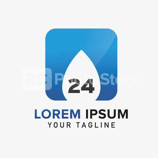 Water drop 24th Plumber Logo design vector template. Corporate design. Vector illustration. Eps 10 vector file.  : Stock Photo or Stock Video Download rcfotostock photos, images and assets rcfotostock | RC-Photo-Stock.: