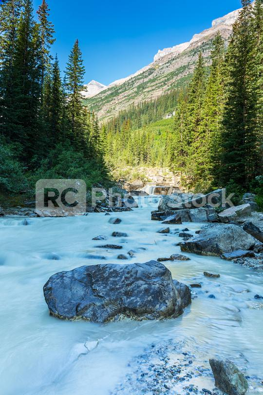Waterfall at Lake Louise im Banff National park canada  : Stock Photo or Stock Video Download rcfotostock photos, images and assets rcfotostock | RC-Photo-Stock.: