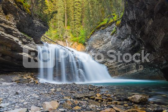 Waterfall at the Johnston Canyon in banff Canada   : Stock Photo or Stock Video Download rcfotostock photos, images and assets rcfotostock | RC-Photo-Stock.: