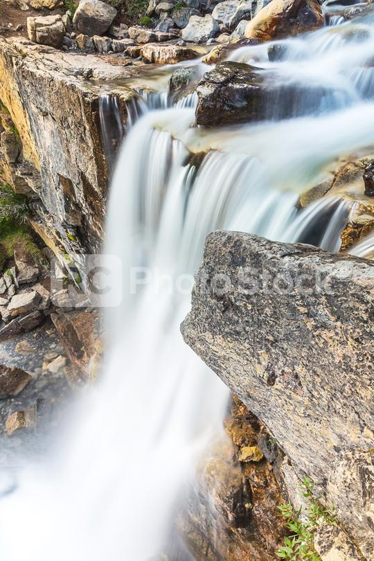 waterfall in the mountains at jasper canada  : Stock Photo or Stock Video Download rcfotostock photos, images and assets rcfotostock | RC-Photo-Stock.: