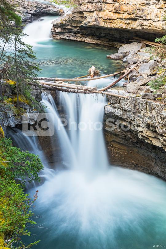 waterfalls at the Johnston Canyon in banff canada  : Stock Photo or Stock Video Download rcfotostock photos, images and assets rcfotostock   RC-Photo-Stock.: