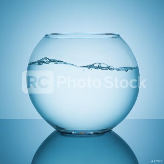wavy water surface in a fishbowl  : Stock Photo or Stock Video Download rcfotostock photos, images and assets rcfotostock | RC-Photo-Stock.: