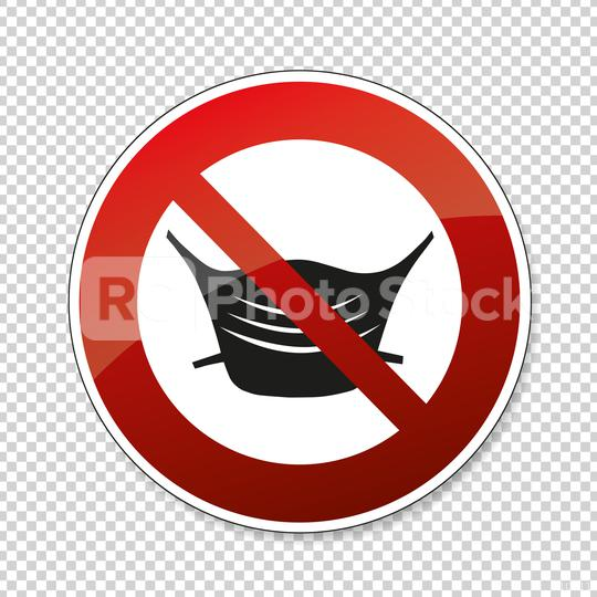 Wear no face mask or makeshift mask against coronavirus pandemic, prohibition sign, on checked transparent background. Vector illustration. Eps 10 vector file.  : Stock Photo or Stock Video Download rcfotostock photos, images and assets rcfotostock | RC-Photo-Stock.: