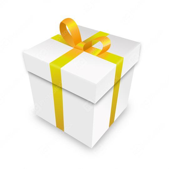 Weihnachten und Neujahr gelbe Geschenkbox weißer Hintergrund. Vektorgrafik eps  : Stock Photo or Stock Video Download rcfotostock photos, images and assets rcfotostock | RC-Photo-Stock.: