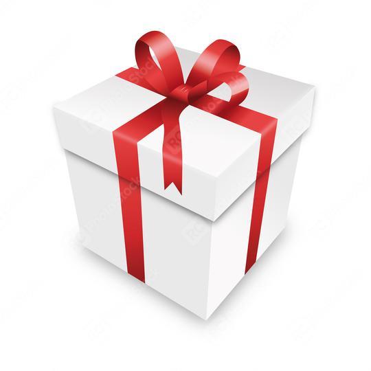 Weihnachten und Neujahr rot Geschenkbox weißer Hintergrund. Vektorgrafik eps   : Stock Photo or Stock Video Download rcfotostock photos, images and assets rcfotostock | RC-Photo-Stock.: