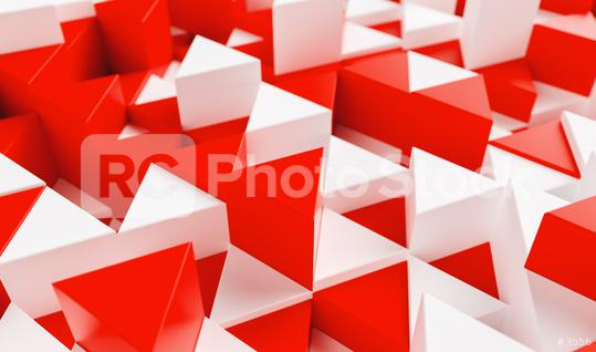 White and red background with triangles - 3d rendering   : Stock Photo or Stock Video Download rcfotostock photos, images and assets rcfotostock | RC-Photo-Stock.: